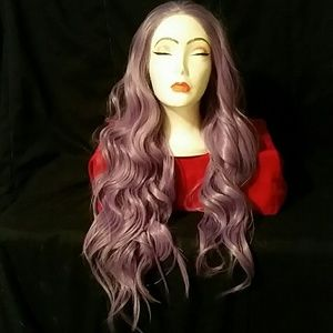 Purple wavy synthetic lace wig 💜❣